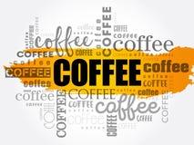 Kaffee fasst Wolkencollage ab Lizenzfreies Stockfoto