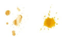 Kaffee-Fleck auf Papierhintergrund lizenzfreie abbildung