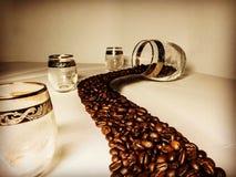 Kaffee-Fluss Lizenzfreies Stockfoto