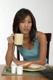Kaffee am Frühstück Stockfotografie
