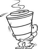 Kaffee großer bw lizenzfreie abbildung