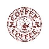 Kaffee grunge Stempel Lizenzfreie Stockbilder