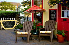Kaffee-Haus draußen Stockfotografie