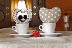 Kaffee-Herz-Valentinstag Stockfotografie