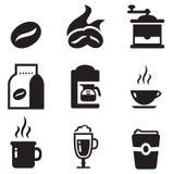 Kaffee-Ikonen Stockbild