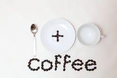 Kaffee im Cup getrennt Lizenzfreie Stockbilder
