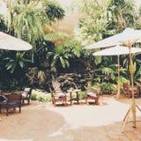 Kaffee im Garten Lizenzfreie Stockfotografie