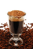 Kaffee im Glas Stockfoto