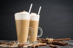 Kaffee im Glas Stockbild