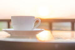 Kaffee im Morgen Lizenzfreie Stockbilder