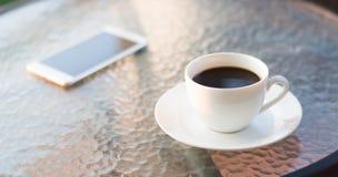 Kaffee im Morgen Stockbilder