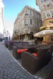 Kaffee im Stadtzentrum gelegenes Bucharest Stockfotografie