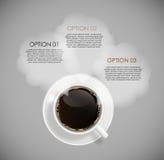 Kaffee Infographic-Schablonen für Geschäfts-Vektor vektor abbildung