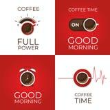 Kaffee infographic Typen des Kaffees Flache Art, Vektor illustra lizenzfreies stockbild
