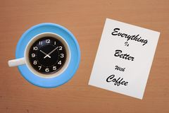 Kaffee ist besser stockbilder