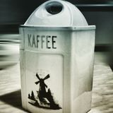 Kaffee Künstlerischer Blick in duotone Art Stockfoto