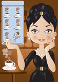 Kaffee-Karte Stockfoto