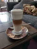 Kaffee Latte Machiatto-Krone 1 stockfotos