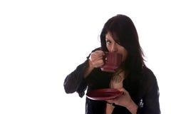 Kaffee-, latte- und Cocokonzepte stockbilder