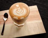 Kaffee Lattekunst Lizenzfreies Stockbild