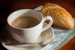 Kaffee mit Brot Lizenzfreies Stockbild