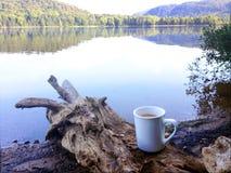Kaffee mit einer Ansicht Lizenzfreies Stockbild