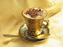 Kaffee mit Eiscreme und Schokolade lizenzfreies stockbild