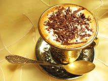Kaffee mit Eiscreme und Schokolade stockbilder