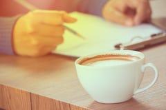 Kaffee mit Handschrift Lizenzfreies Stockbild