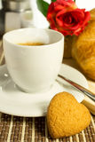 Kaffee mit Keksen Lizenzfreies Stockbild