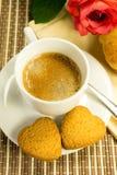Kaffee mit Keksen Lizenzfreie Stockfotos