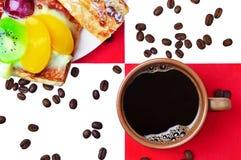 Kaffee mit Kuchen Stockbild
