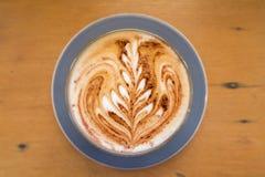 Kaffee mit Lattekunst Lizenzfreies Stockbild