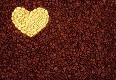Kaffee mit Liebe. Lizenzfreies Stockfoto