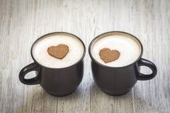 Kaffee mit Liebe stockfotografie