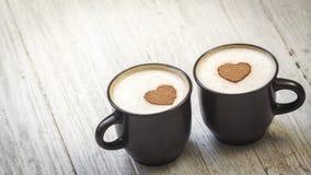 Kaffee mit Liebe lizenzfreie stockfotografie