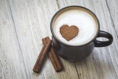 Kaffee mit Liebe lizenzfreies stockbild