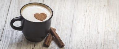 Kaffee mit Liebe stockfoto
