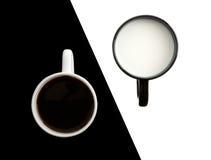 Kaffee mit Milch lizenzfreie stockfotografie