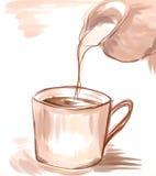 Kaffee mit Milch vektor abbildung