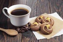 Kaffee mit Plätzchen Stockfotografie
