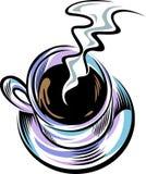 Kaffee mit Rauche stock abbildung