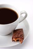 Kaffee mit süßem Stab Stockfotografie