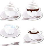 Kaffee mit Sahne Lizenzfreie Stockbilder