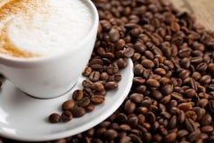 Kaffee mit Schaum Stockfotografie