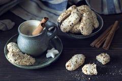 Kaffee mit Zimt Stockfoto