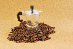 Kaffee moka Kaffee bildete ââat Haus Stockbild