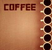 Kaffee-Notizbuch. Stockbild