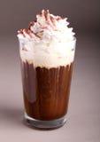 Kaffee oder Schokolade mit Sahne lizenzfreies stockfoto