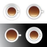 Kaffee- oder Teecupikonenauslegung Stockbild